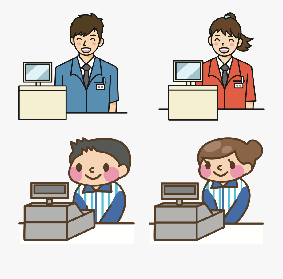 clip art transparent download Japan grocery store . Supermarket clipart cashier