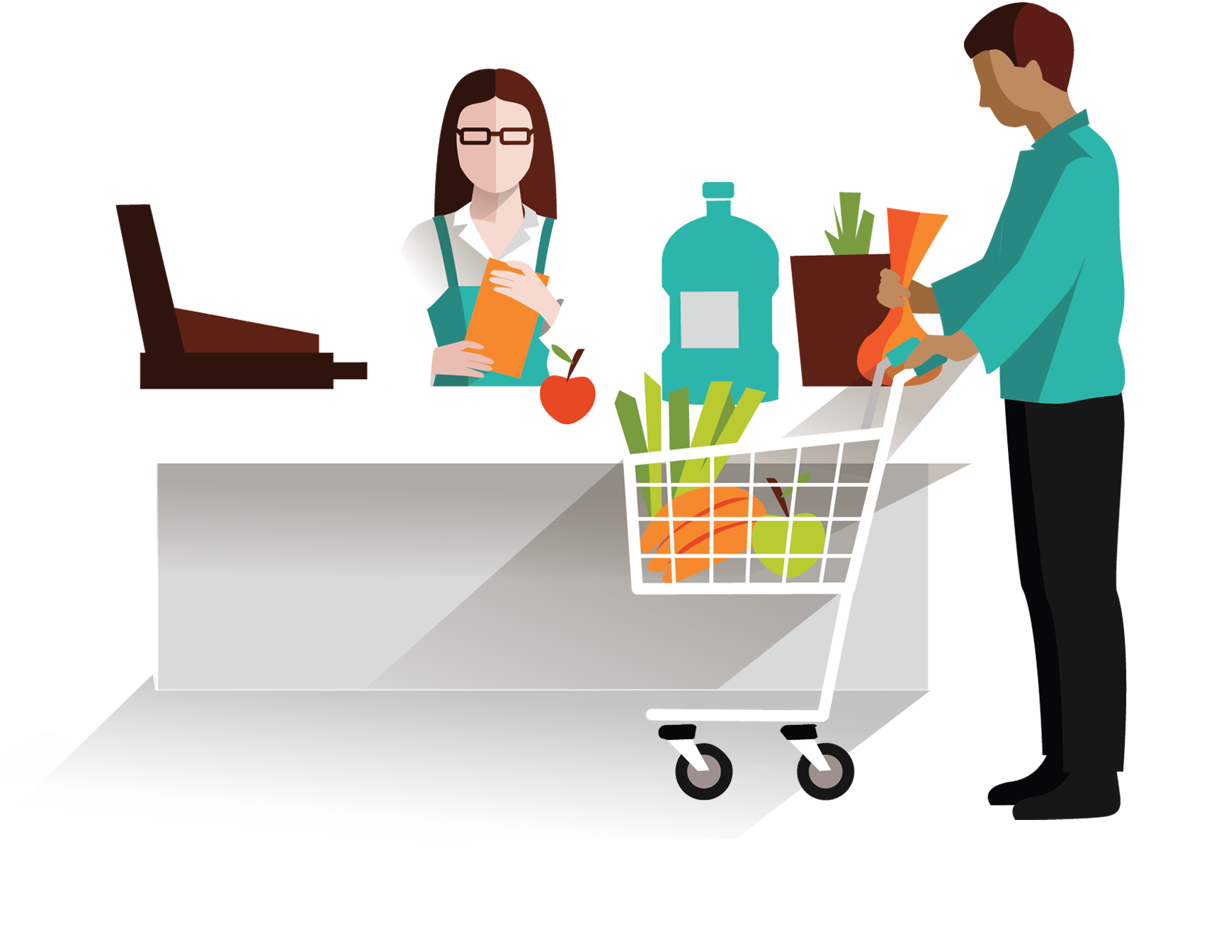 jpg freeuse stock Supermarket clipart checkout. Nationwide education check it