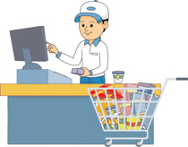 vector library download Supermarket clipart checkout. Free check out cliparts