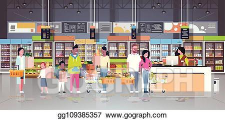 svg free Supermarket clipart checkout line. Vector art retail woman.