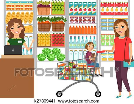 royalty free Supermarket clipart clip art. Grocery shopping free download