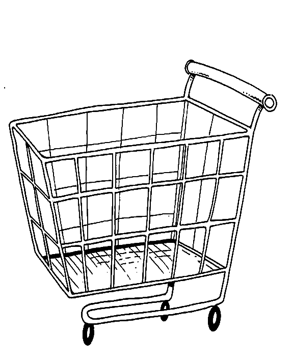 clipart library Grocery Cart Drawing at GetDrawings
