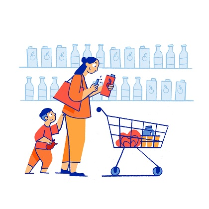 picture free Impact of online grocery. Supermarket clipart consumer education.