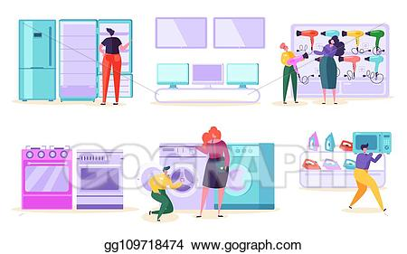 picture royalty free stock Supermarket clipart consumer product. Vector illustration electronic retail.