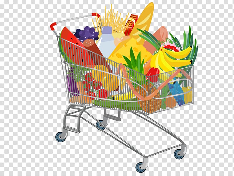 picture free download Grocery cart full of. Supermarket clipart crazy shopping