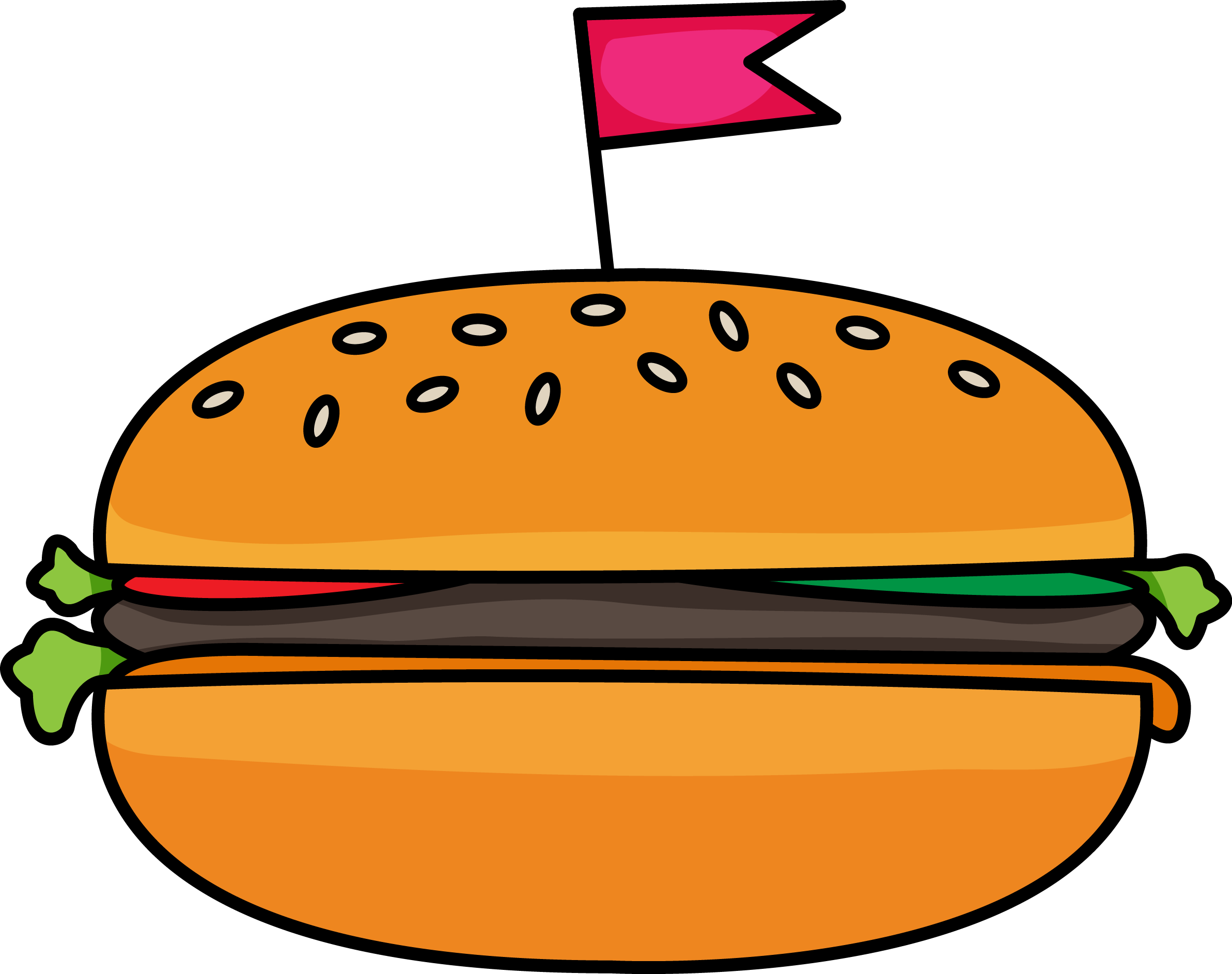 black and white library Collection of free estopping. Vector burger minimalist