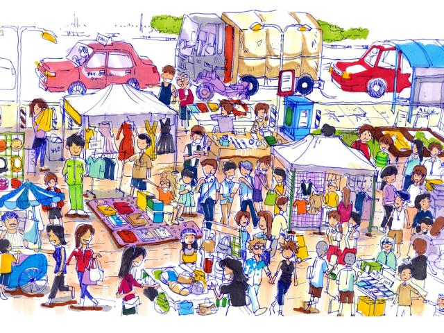 image free library Free fruitstand download clip. Supermarket clipart crowded market