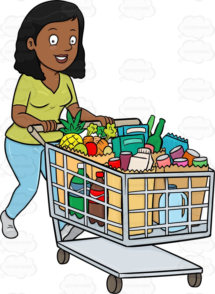 picture transparent Free download best . Supermarket clipart customer shopping