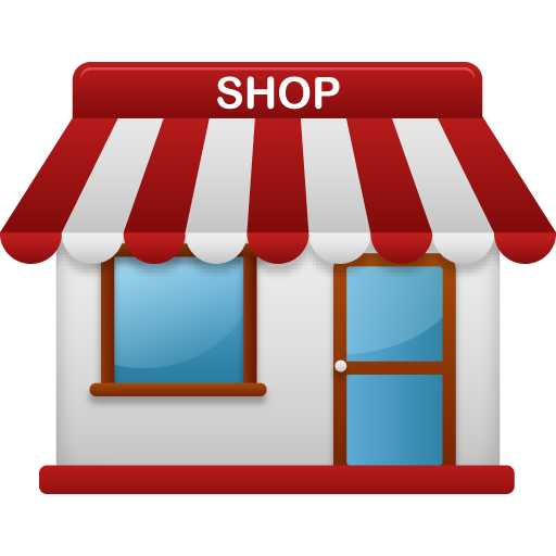 image free stock Shop icons melur tk. Supermarket clipart cute store