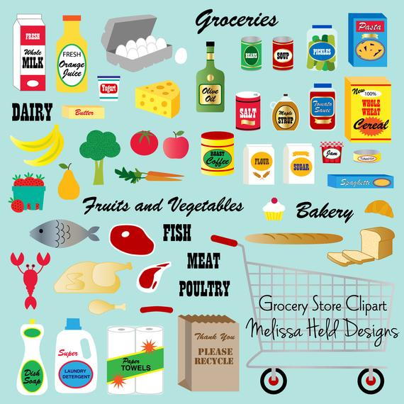 graphic freeuse library Grocery digital . Supermarket clipart cute store