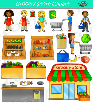 clipart transparent download Grocery worksheets teaching resources. Supermarket clipart cute store