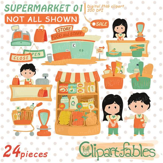 clipart freeuse download Supermarket clipart departmental store. Grocery clip art groceries.
