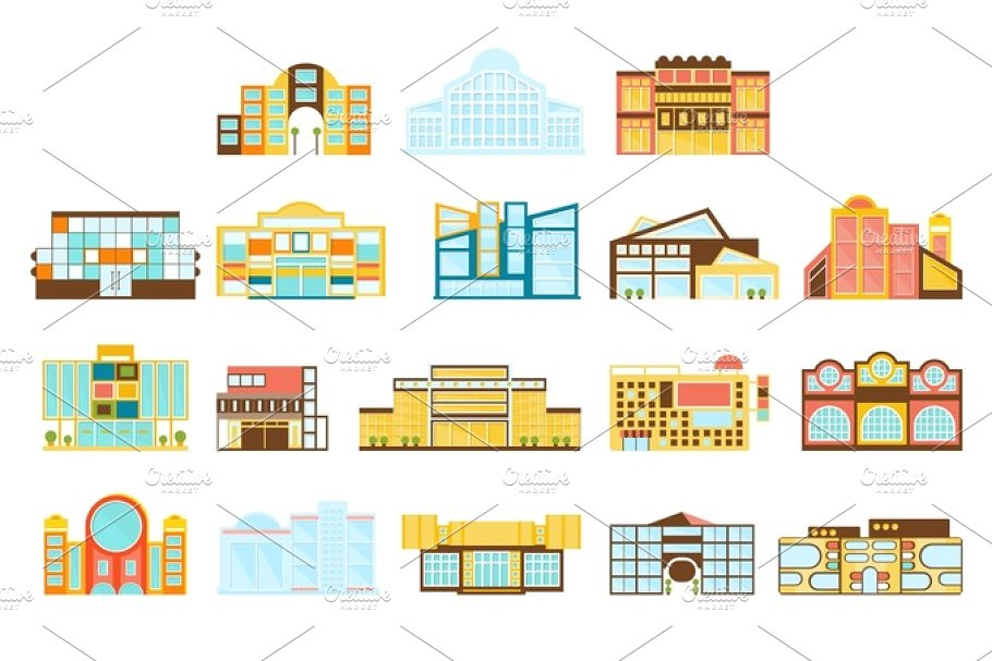picture Shopping mall department and. Supermarket clipart departmental store.