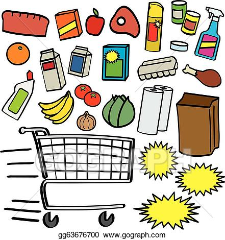 png freeuse library Vector art items gg. Supermarket clipart drawing