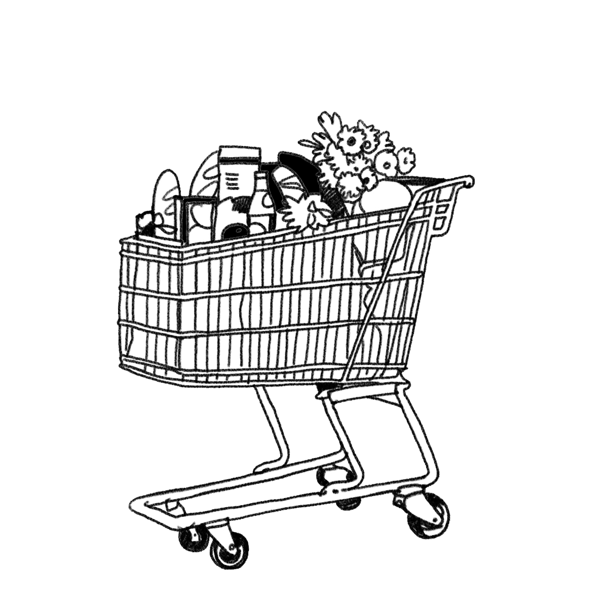 png royalty free Shopping cart at getdrawings. Supermarket clipart drawing
