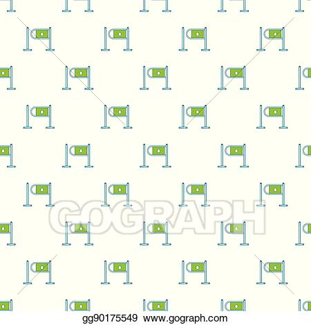 png freeuse library Supermarket clipart entrance. Vector gate in pattern