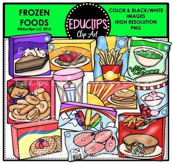 graphic library Supermarket clipart frozen dinner. Foods clip art bundle
