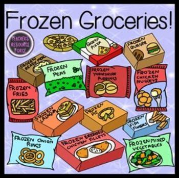 picture royalty free Groceries clip art tpt. Supermarket clipart frozen food.