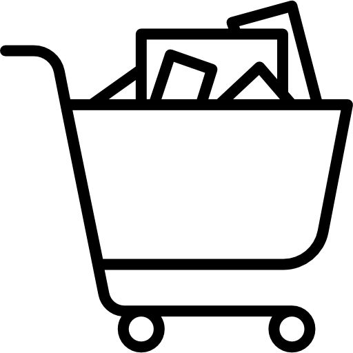 image library stock Shopping icon page. Supermarket clipart full grocery cart.