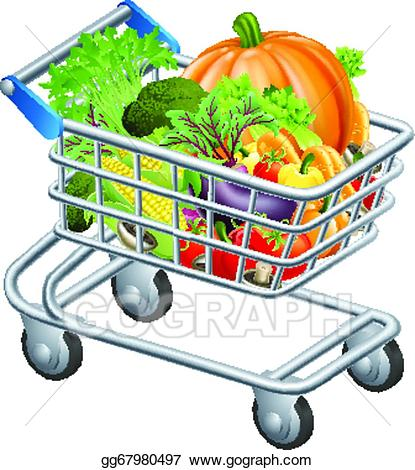 png stock Clip art vector vegetable. Supermarket clipart full grocery cart