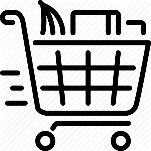 image stock Shop until you drop. Supermarket clipart full grocery cart