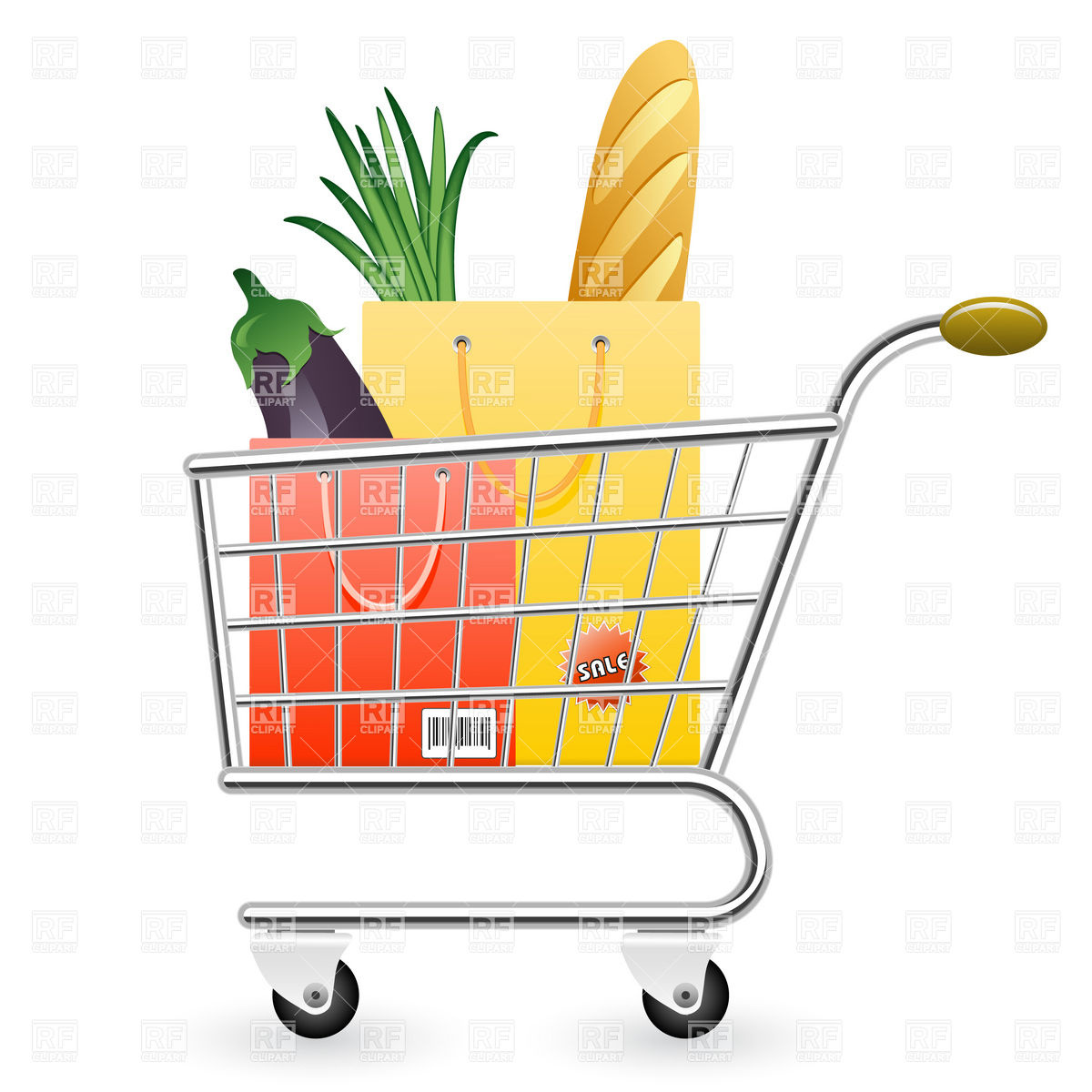 svg royalty free download Free download best . Supermarket clipart full grocery cart