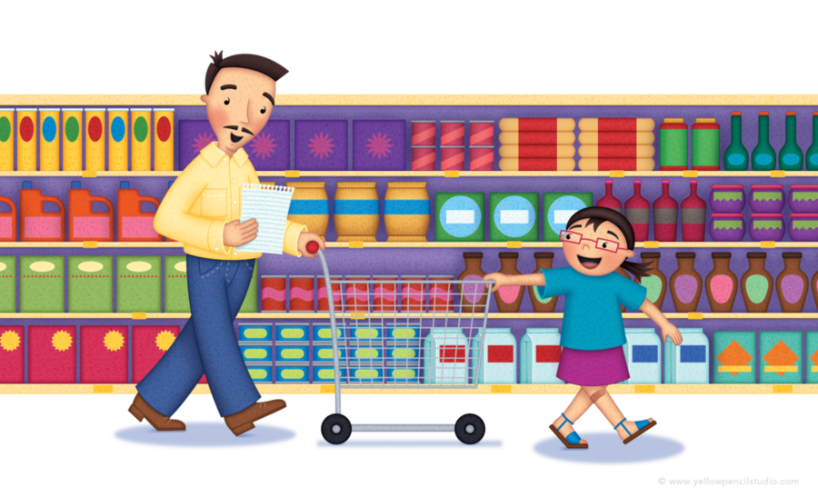 clip freeuse Playground cartoon shopping food. Supermarket clipart go to store