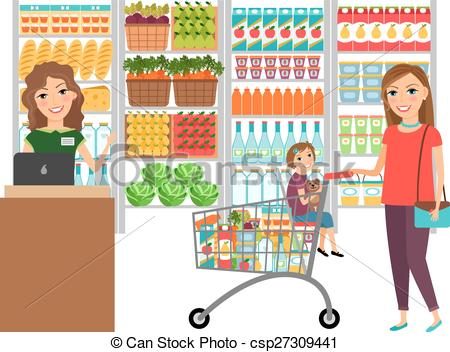 image black and white library Supermarket clipart grocer shop.  grocery store clipartlook