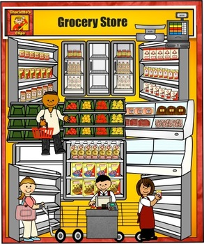 jpg library stock Free grocery cliparts download. Supermarket clipart grocer shop