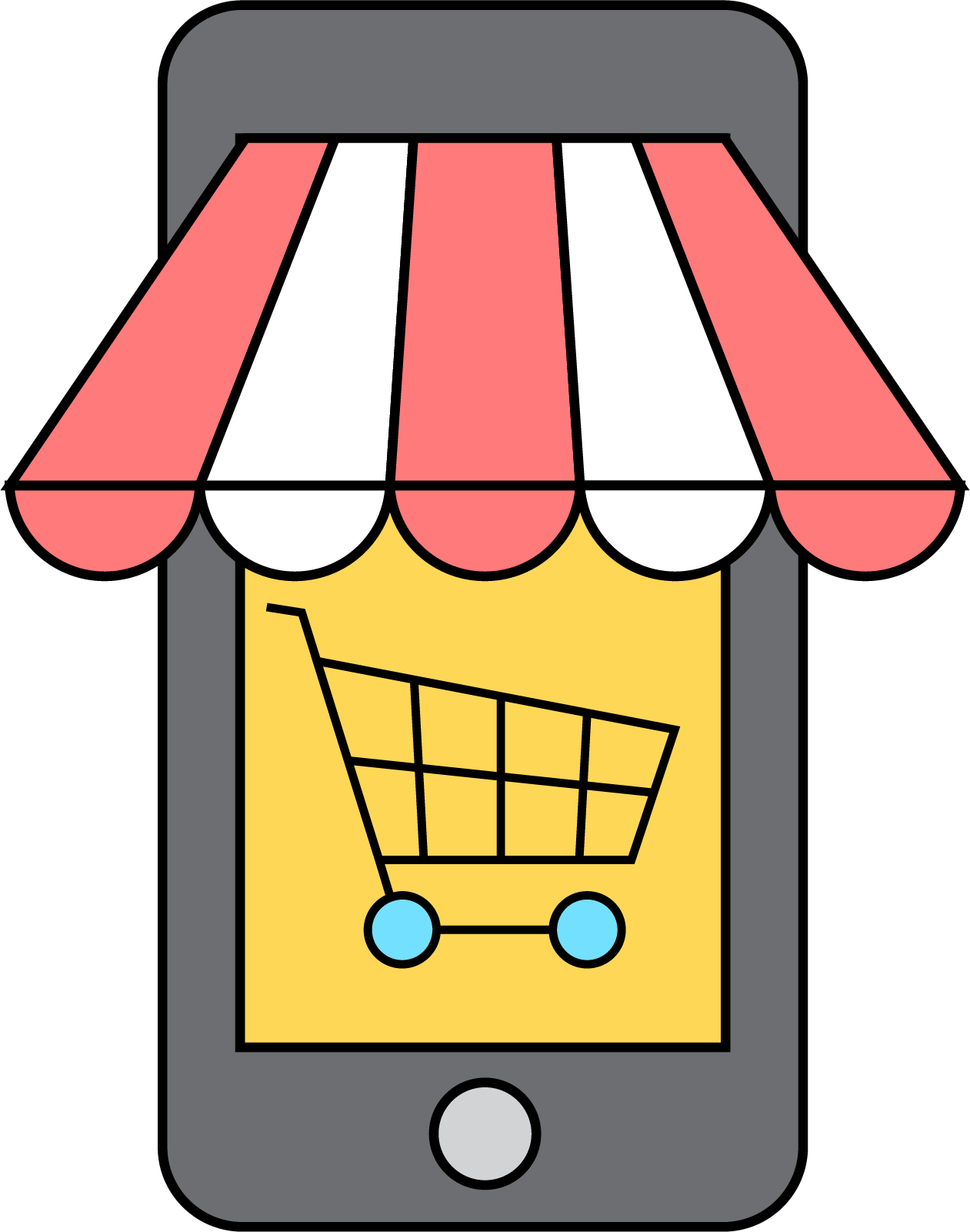 jpg free stock Supermarket clipart grocer shop. E commerce shopping clip