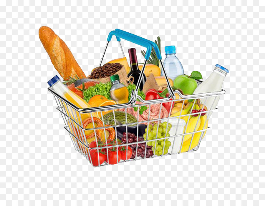 picture free library Cartoon food shopping . Supermarket clipart grocery basket.