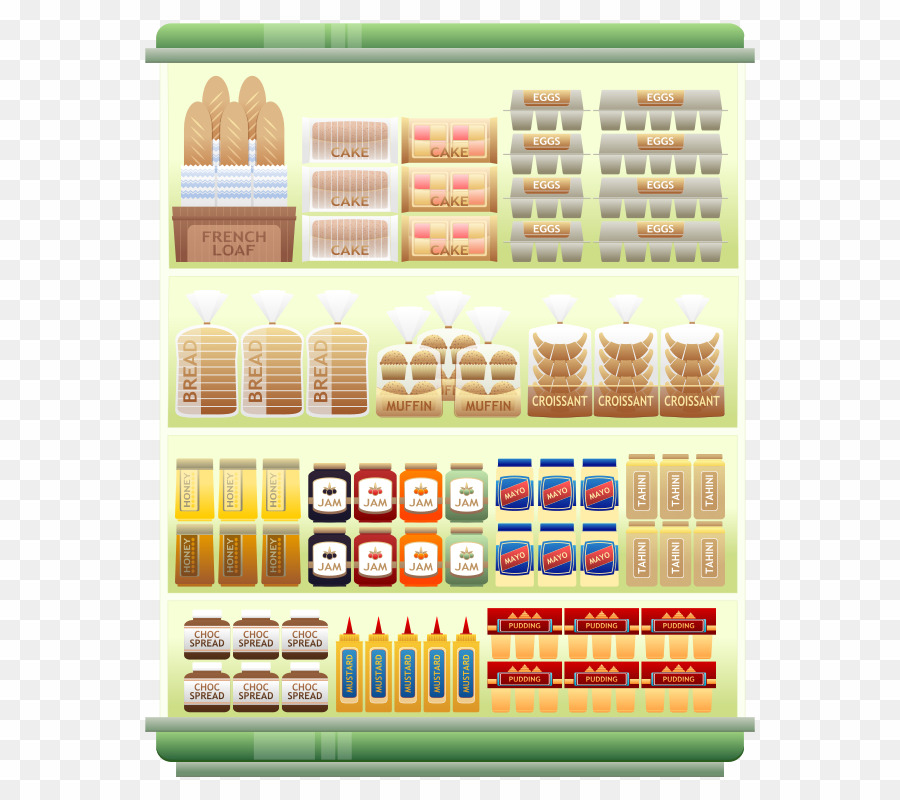 vector freeuse Supermarket clipart grocery shelf. Goods png store .