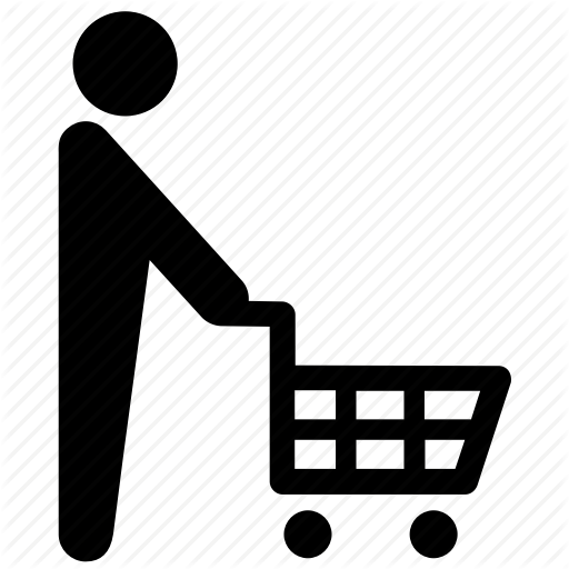 graphic black and white stock Free shopping icon download. Supermarket clipart grocery shop