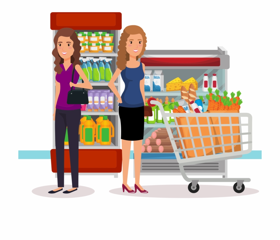 banner free download Store food shopping marketplace. Supermarket clipart grocery shopper