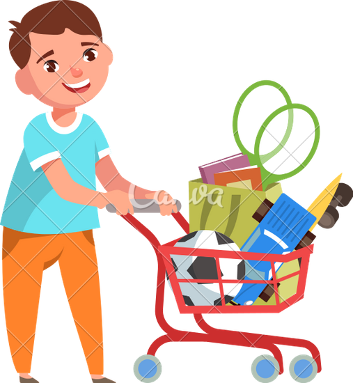 image download Supermarket clipart grocery shopper. Toy shopping cart pencil