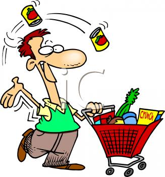 svg royalty free stock Supermarket clipart grocery shopper.  shopping clipartlook