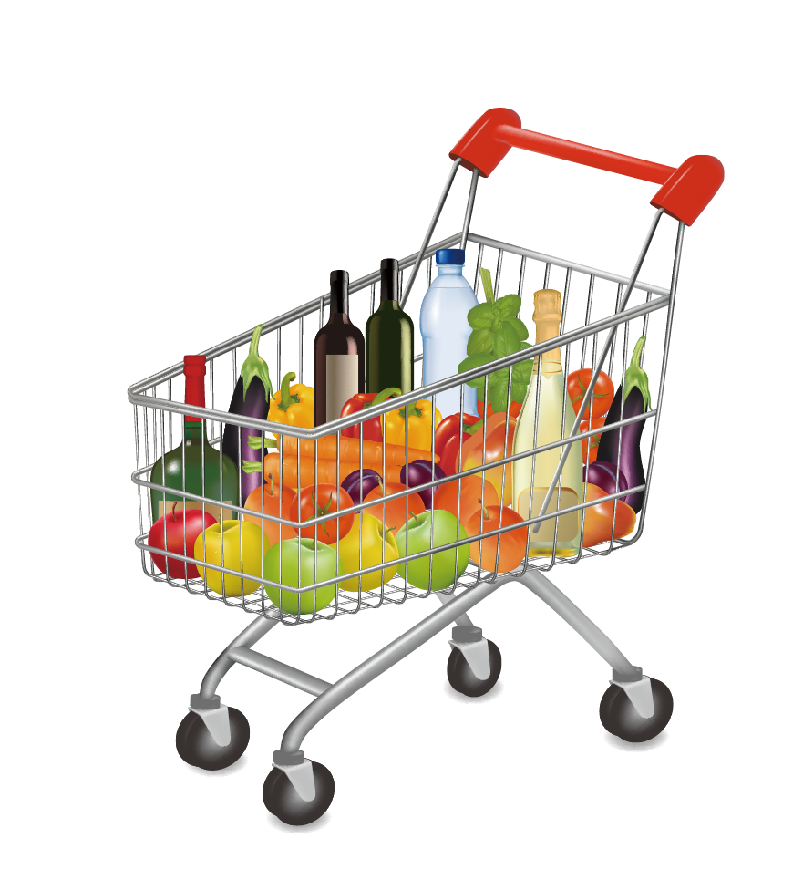 banner freeuse Supermarket Grocery store Shopping cart