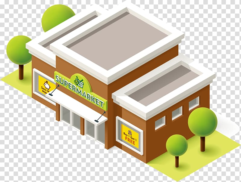 clipart free Supermarket clipart grocery store. Building illustration green tree