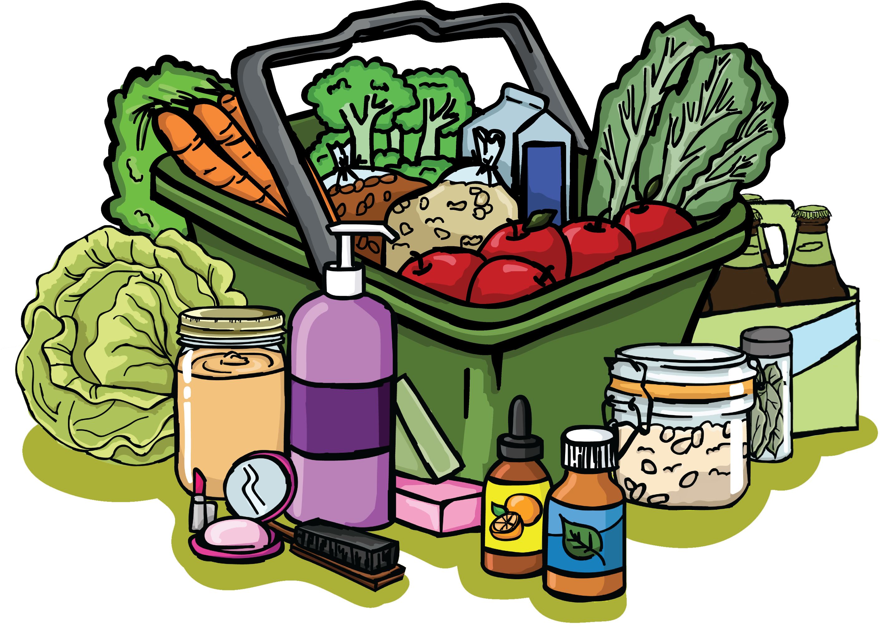freeuse library Supermarket clipart grocery story. Products item free store.
