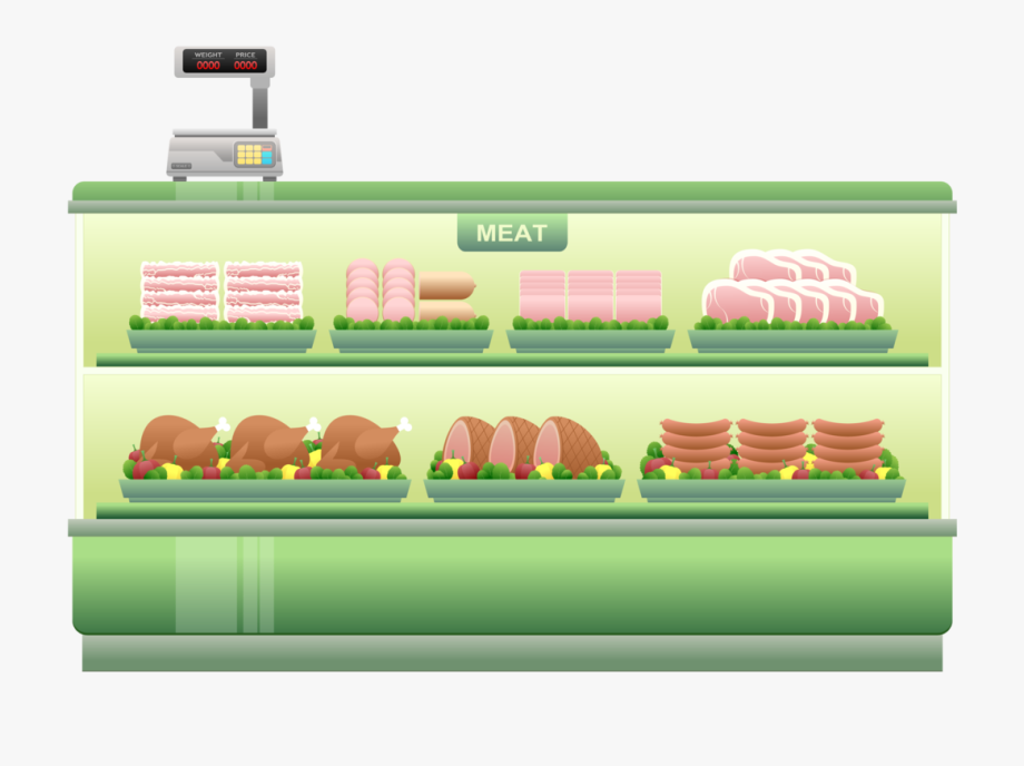 graphic freeuse Meat attraction store food. Supermarket clipart grocery story.