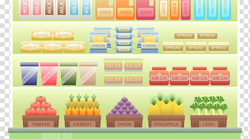 banner transparent Grocery store food retail. Supermarket clipart hypermarket