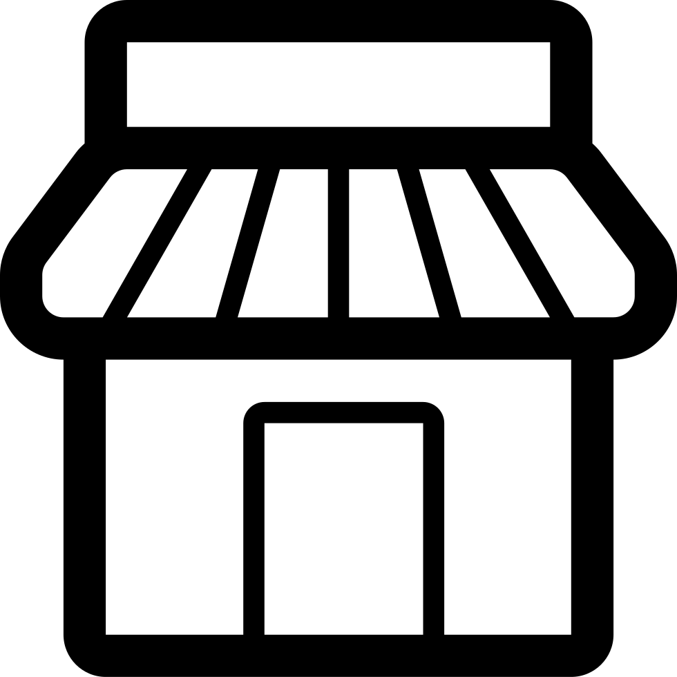 banner transparent library Svg png free download. Supermarket clipart icon.
