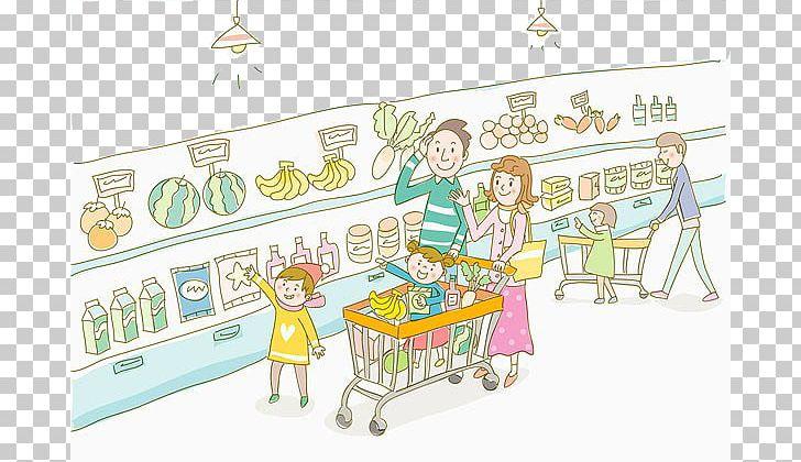 jpg stock Supermarket clipart illustration. Food cartoon grocery store
