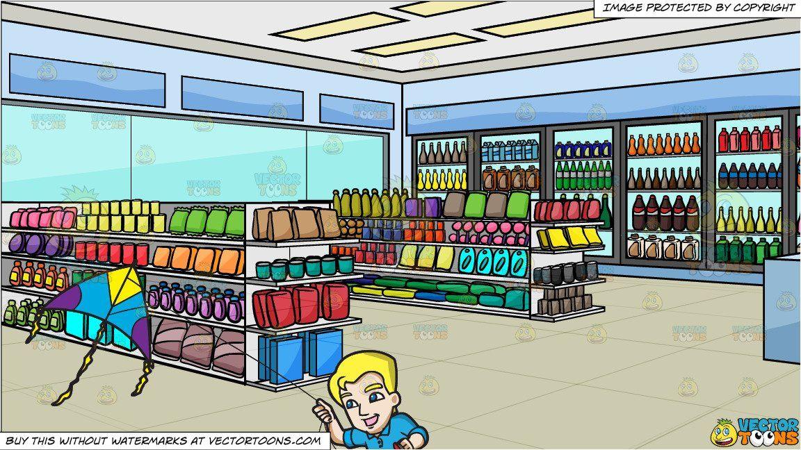 image transparent Supermarket clipart interior. Cartoon a happy man.