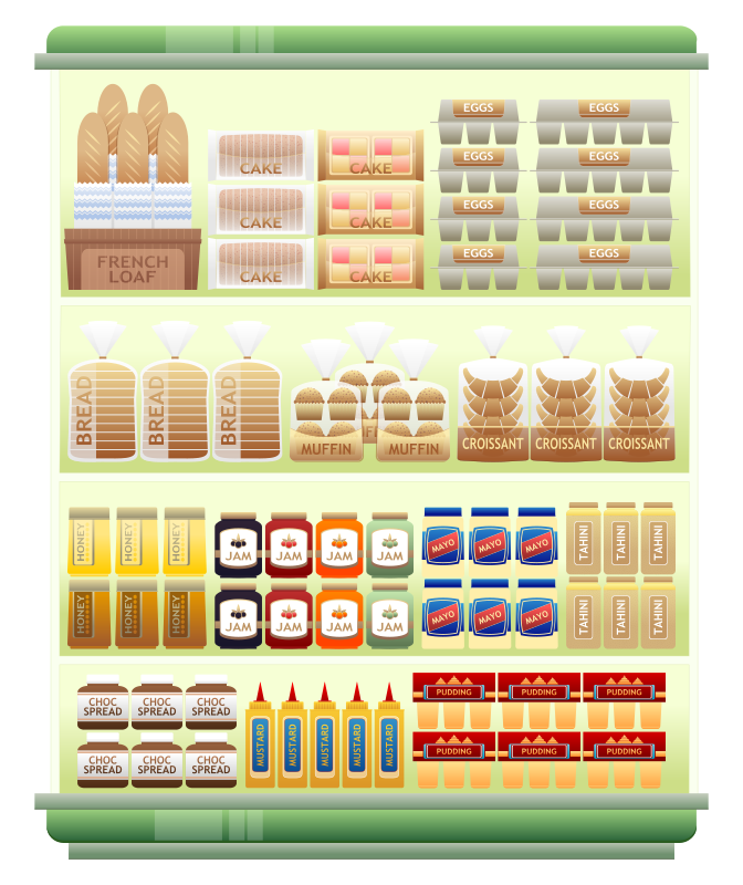 jpg freeuse Icons png vector free. Supermarket clipart items