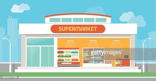 vector download Supermarket clipart logo. Building premium clipartlogo com.