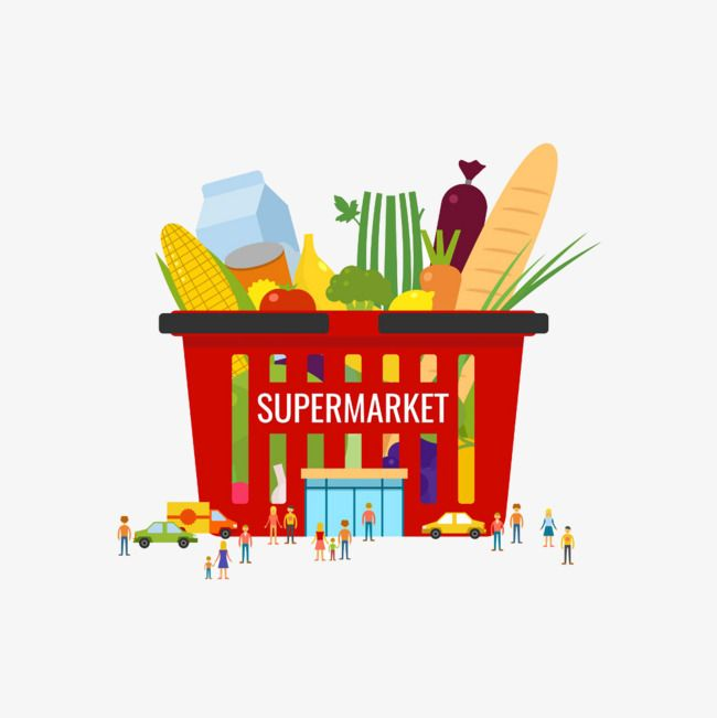 picture freeuse stock Related image grocery store. Supermarket clipart logo