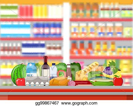 image black and white library Eps vector store interior. Supermarket clipart mall.
