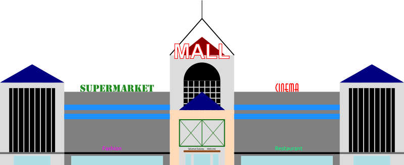 picture royalty free stock Esl conversation . Supermarket clipart mall.
