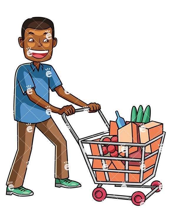 banner freeuse library Pin on character types. Supermarket clipart man.
